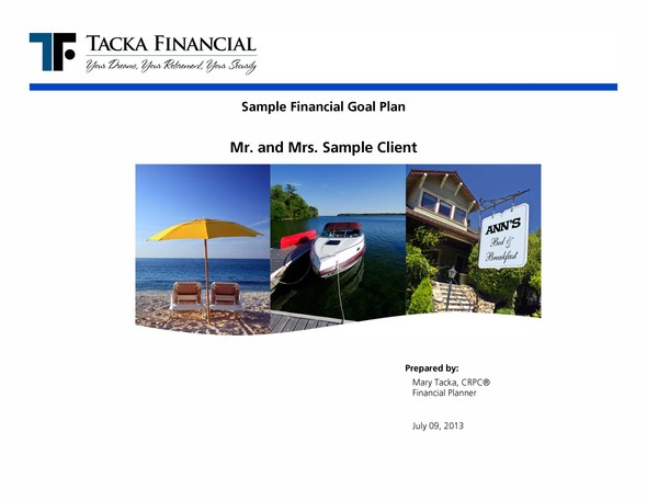 Sample Financial Plan  TackafinancialComHBeckInvestmentsFinance
